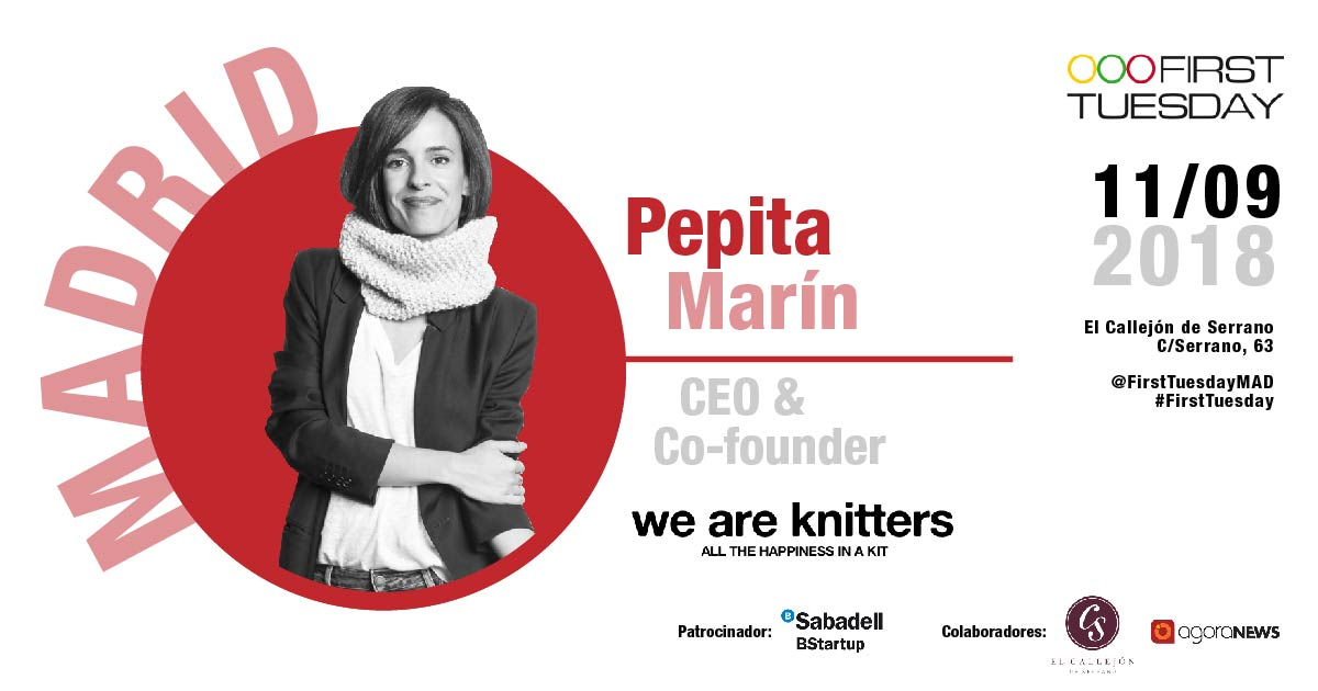 Arrancamos la temporada con Pepita Marín, CEO & Co-founder de weareknitters.com, en First Tuesday Madrid