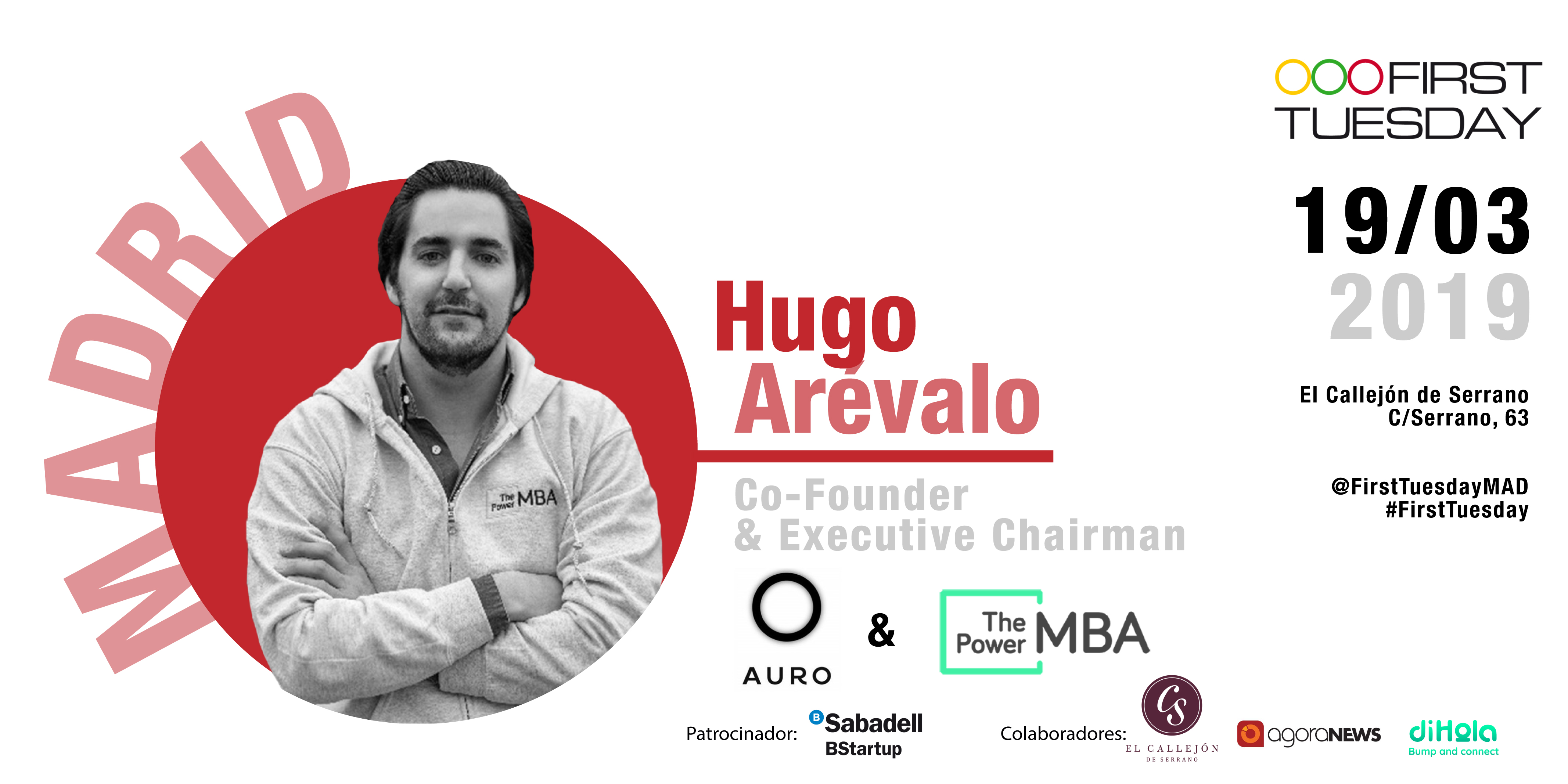 Hugo Arévalo en First Tuesday Madrid